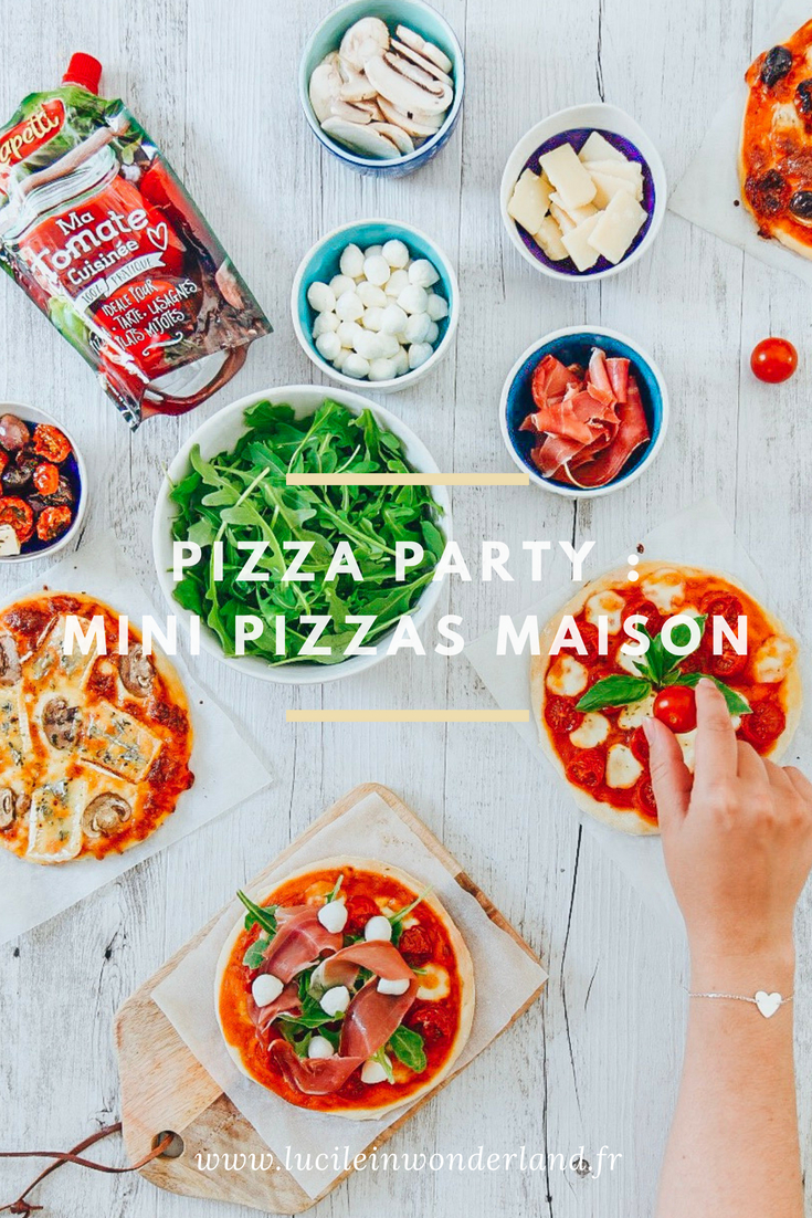 Pizza party : mini pizzas maison - Lucile in Wonderland