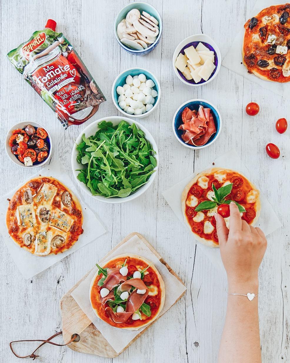Pizza party : mini pizzas maison - Lucile in Wonderland