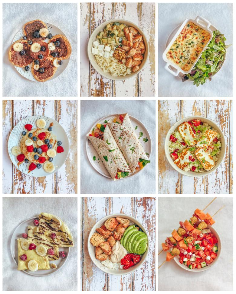 1 semaine dans mon assiette #2 : 21 idées de repas équilibrés