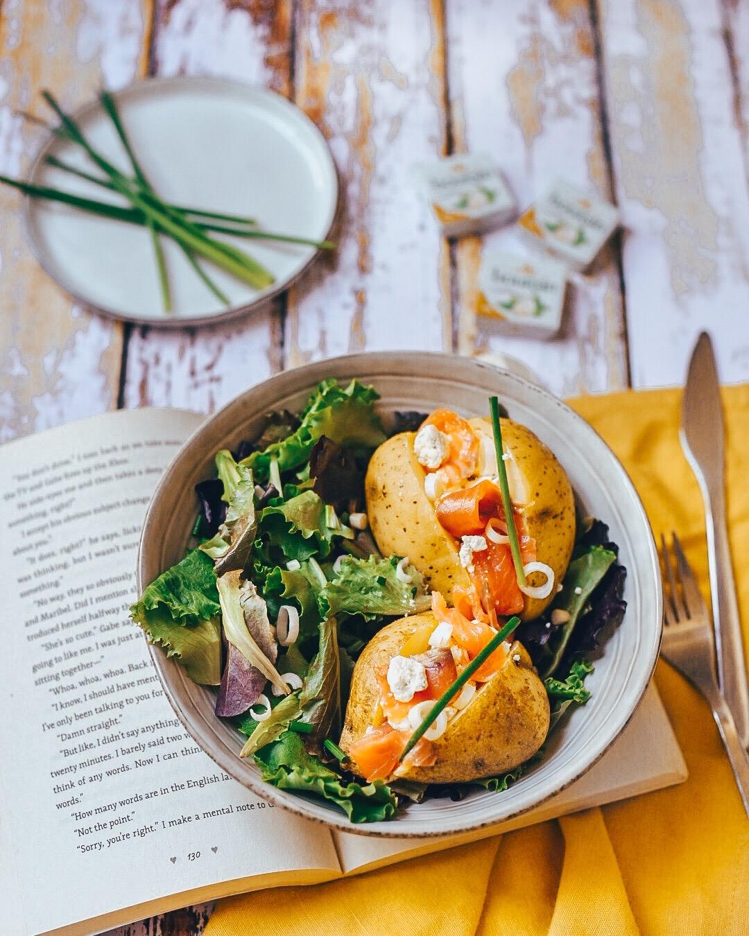 Recette simplissime #1 : Pommes de terre au saumon et au Boursin®