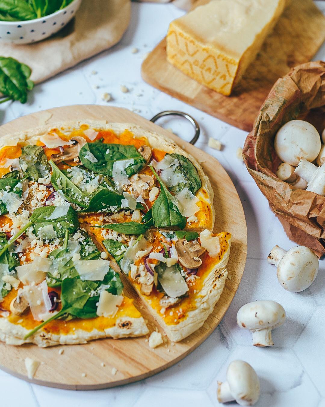 Pizza d'automne à la crème de potimarron